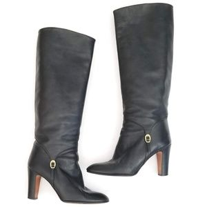 BALLY Gorgeous Italian Tall Heeled Boots Size 9 B